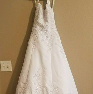 Beautiful Beaded Wedding Dress & Slip